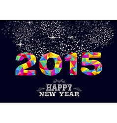 New year 2015 poster design vector