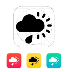 Cloudy with rain weather icon vector