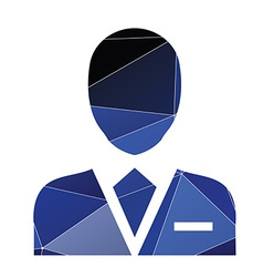 Business avatar icon abstract triangle vector