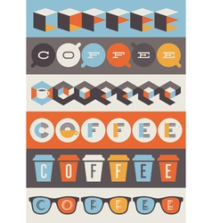 Coffee emblems - set of design elements vector