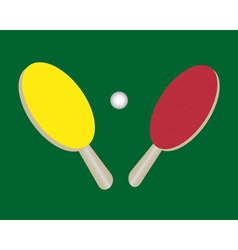 Two tennis rackets vector