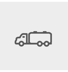 Truck liquid cargo thin line icon vector