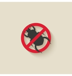Beetle warning sign vector