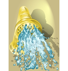 Shower with running water vector