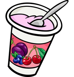 Yogurt clip art cartoon vector