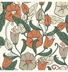 Seamless floral funky pattern vector