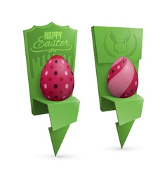 Easter egg holders vector