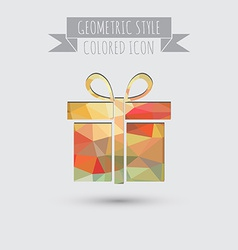 Symbol gift box with a bow icon holiday gift vector