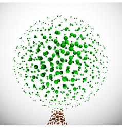 Abstract molecular tree vector