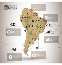 South america map  infographic design for vector