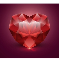Heart shaped gem stone vector