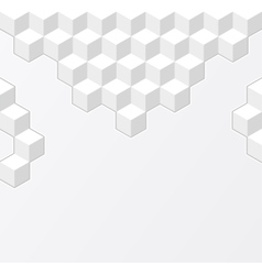 White geometric background with cubes vector