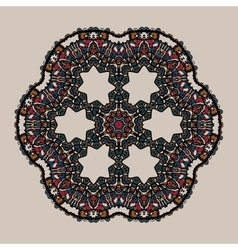 Mandala stylized tribal art ornate lace medallion vector