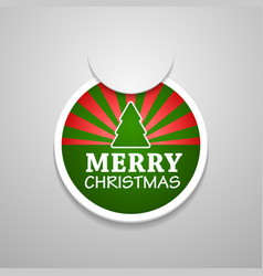 Circle attach merry christmas sticker vector
