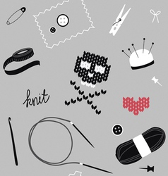 Fashionable knit pattern vector