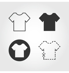 T shirt icons set flat design vector