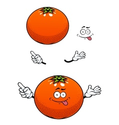 Orange fruit with glossy peel cartoon character vector