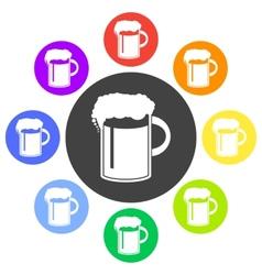 Beer in mug icon flat vector