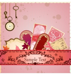 Scrapbooking luxury card vector