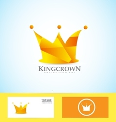 Orange crown 3d logo vector
