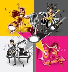 Music star idols vector