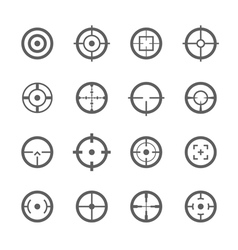 Crosshairs icons vector