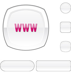 Www white button vector