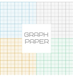 Graph millimeter paper seamless pattern set vector