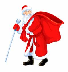 Christmas santa grandfather frost vector