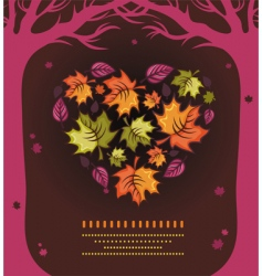 Autumn heart vector