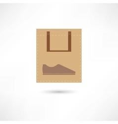 New shoes in bag vector