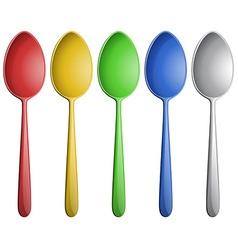 Color spoons vector