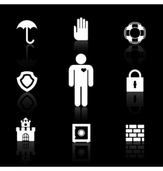 Safety and insurance symbols vector