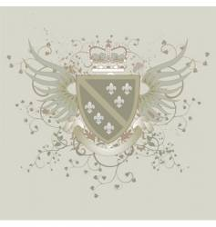 Coat of arms with fleur-de-lis vector