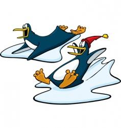 Playful penguins vector