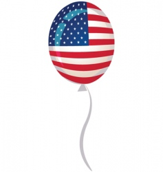 Usa flag balloon vector