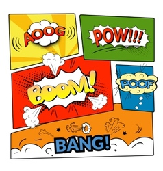 Comic bubbles isolated set vector
