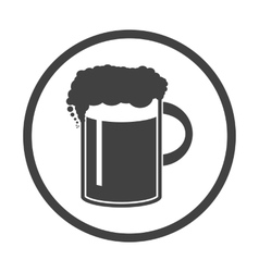 Beer in mug icon simple vector