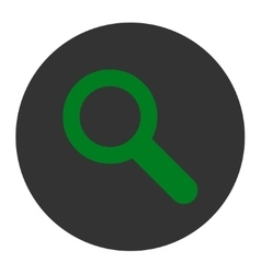 Search flat green and gray colors round button vector