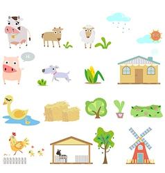 Farm cartoons vector