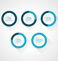 Progress bars for website and applications vector
