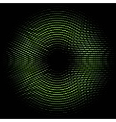 Green circle of halftone vector