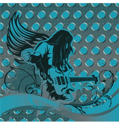 Concert poster with guitar player vector