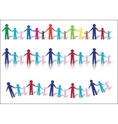 Paper people families vector