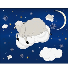 A lamb on a cloud vector