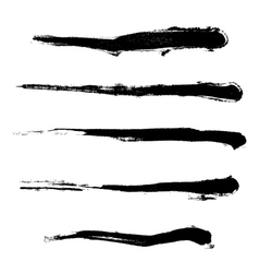 Paintbrush set vector