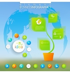 Modern green infographic  can be used for vector