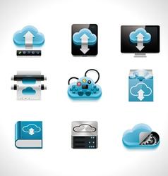 Cloud computing icon set vector