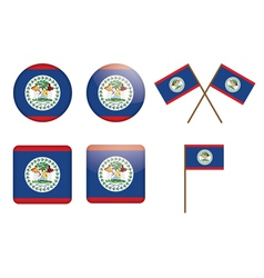 Belize flag badges vector