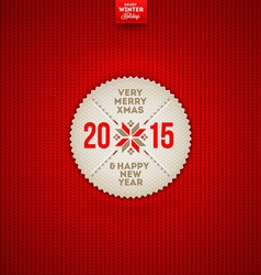 Christmas and new year greeting label vector